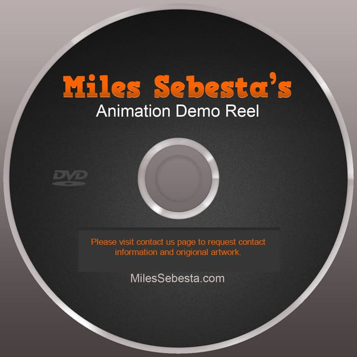 3d animation disc cover